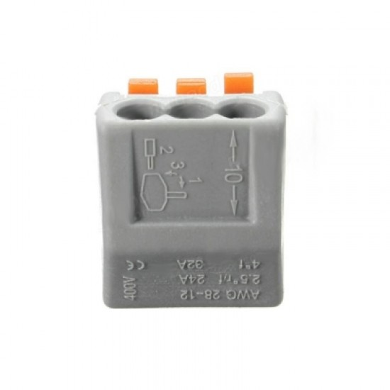 ZDM 5PCS ET25 2/3/5 Pins 32A Spring Terminal Block Electric Cable Wire Connector